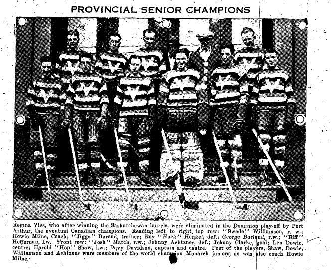 1928-29 Saskatchewan Senior Playoffs