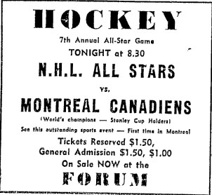 7th National Hockey League All-Star Game
