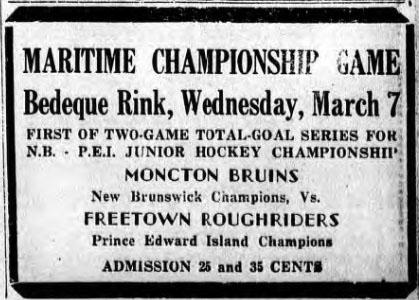 1944-45 Maritimes Junior Playoffs