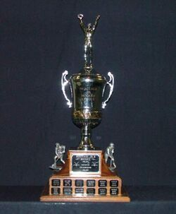 League playoff championship trophy