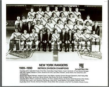 1989–90 New York Rangers season