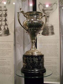 Allan Cup on display at the Hockey Hall of Fame