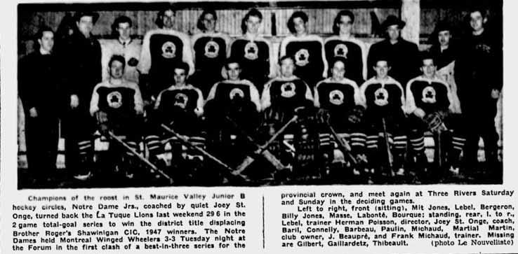 1947-48 Quebec Junior B Playoffs