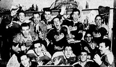 Citadelles players celebrating circa 1953