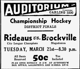 1932-33 Ottawa District Senior Playoffs