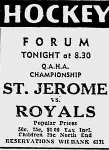 1940-41 Quebec Senior Playoffs