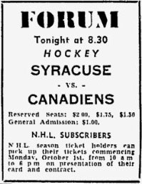 1951–52 Montreal Canadiens season