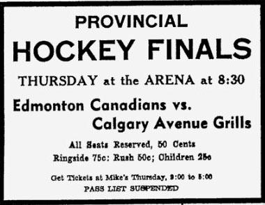 1944-45 Alberta Junior Playoffs