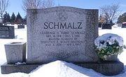 Schmalz's gravestone
