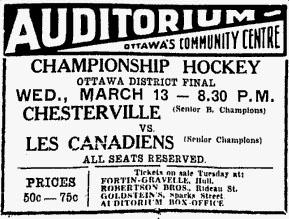 1934-35 Ottawa District Senior Playoffs