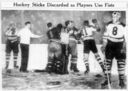 28March1939-Bruins NYR melee2