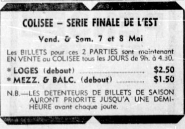 1970-71 Eastern Canada Memorial Cup Playoffs