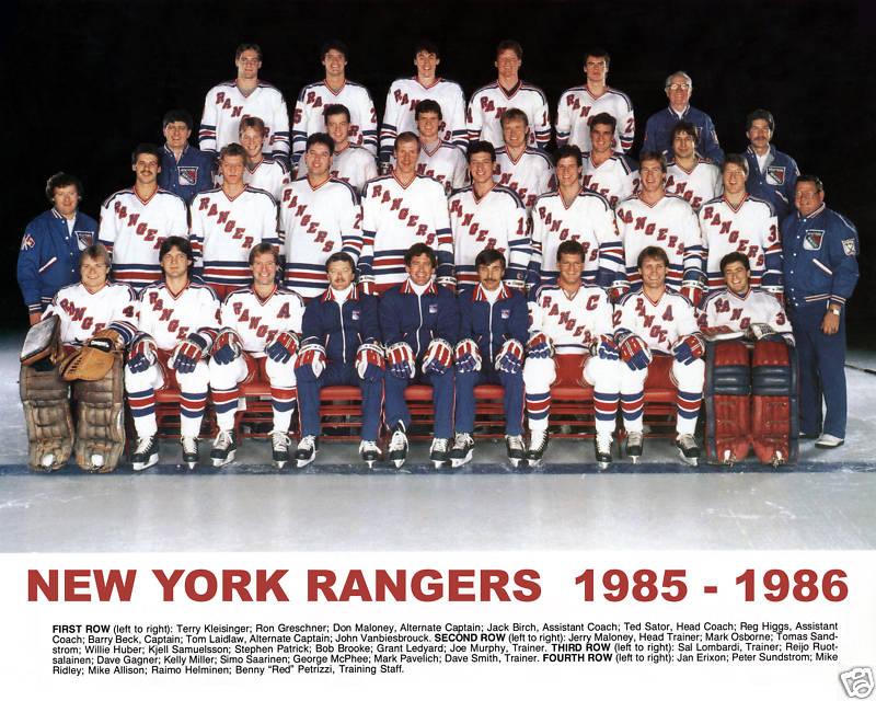 1985–86 New York Rangers season