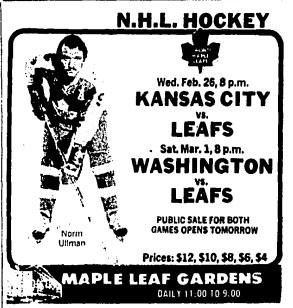 1974–75 Toronto Maple Leafs season