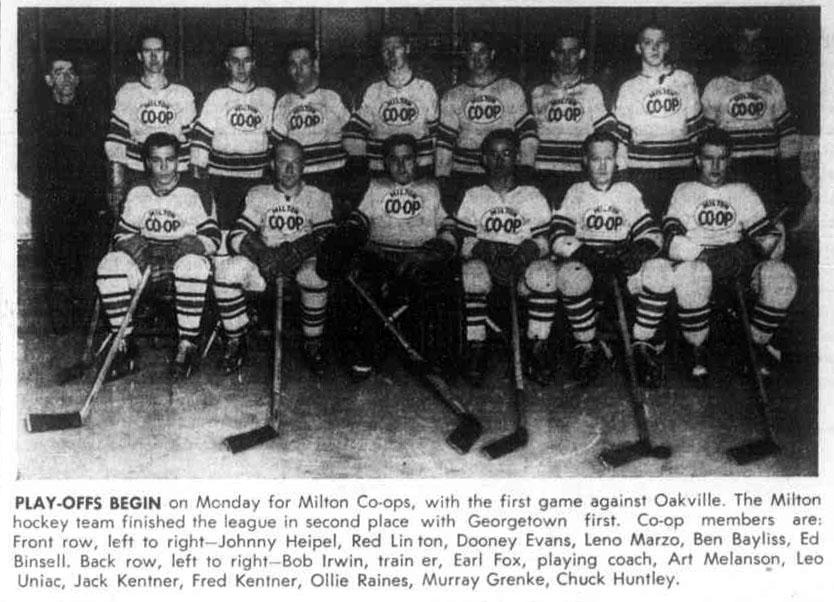 1950-51 OHA Intermediate A Groups