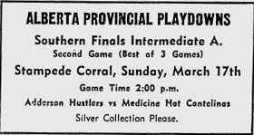 1956-57 Alberta Intermediate Playoffs