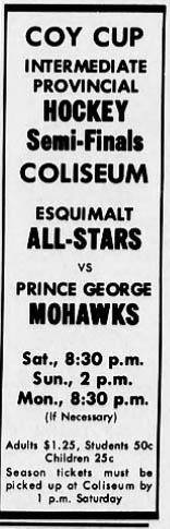 1964-65 British Columbia Intermediate Playoffs