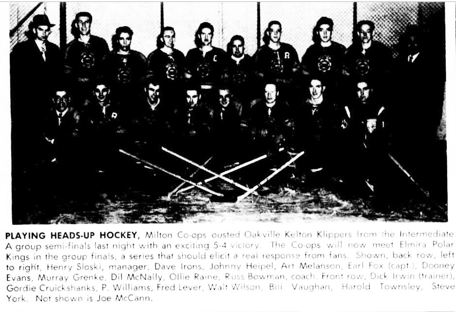1952-53 OHA Intermediate A Groups