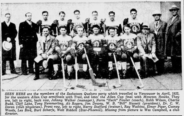 1932-33 Western Canada Allan Cup Playoffs