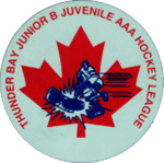 league logo as Thunder Bay Junior B Hockey League