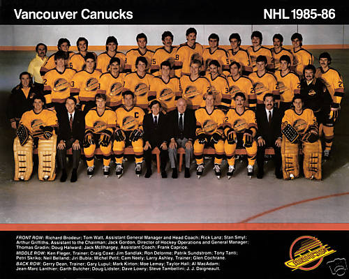 1985–86 Vancouver Canucks season