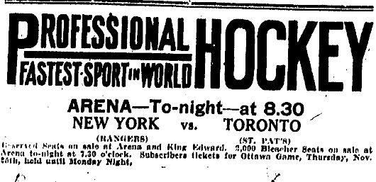 1926–27 Toronto St. Patricks season