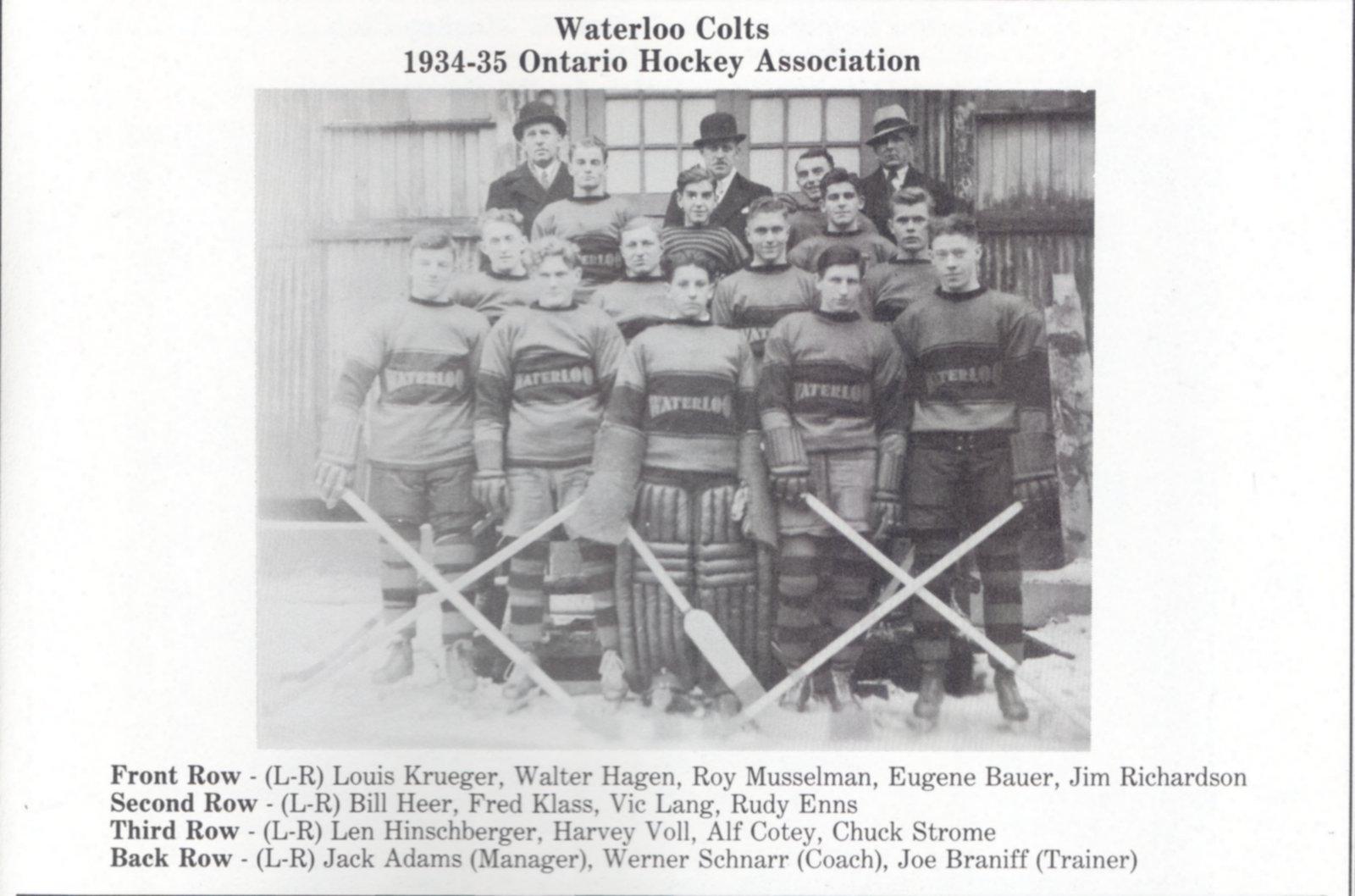 1934-35 OHA Junior B Groupings