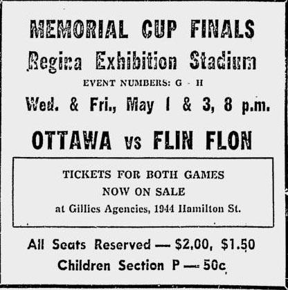 1956-57 Memorial Cup Final