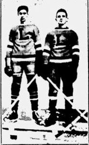 Two members of the Lafontaine Bleus team in uniform.