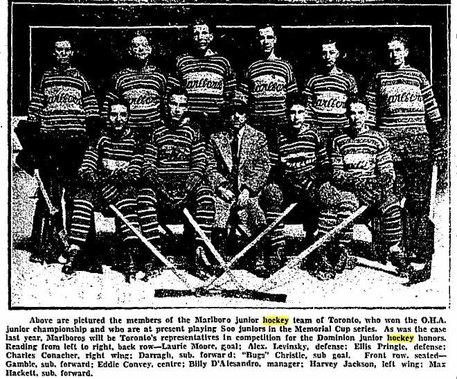 1928-29 Memorial Cup Final