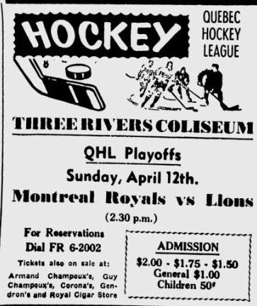 1958-59 QHL Season