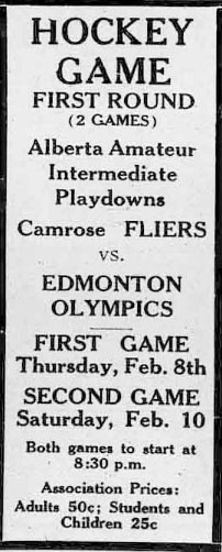 1933-34 Alberta Intermediate Playoffs