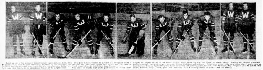 1935-36 Thunder Bay Senior Playoffs