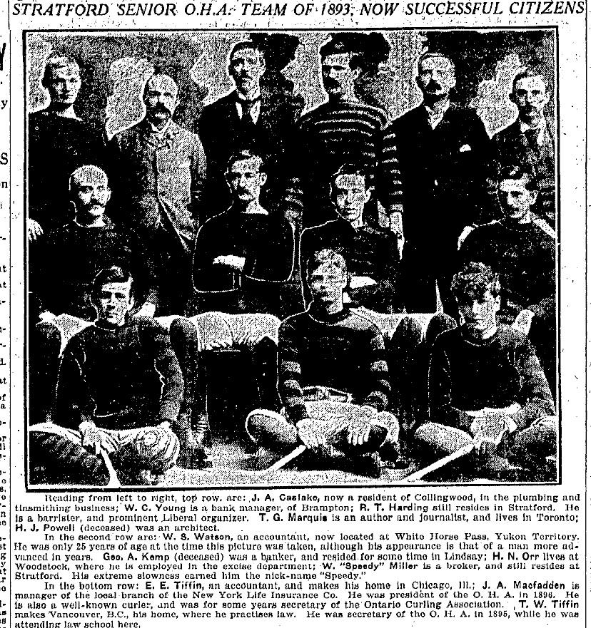 1892-93 OHA Senior Season