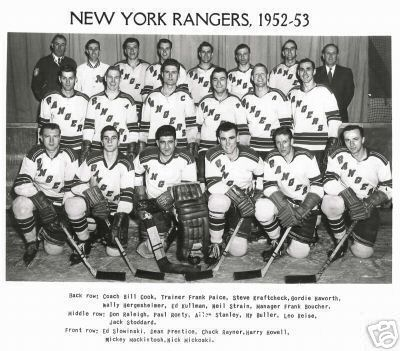 1952–53 New York Rangers season
