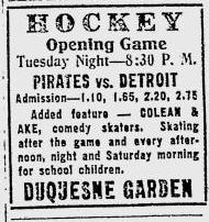 1927–28 Pittsburgh Pirates (NHL) season