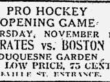 1928–29 Pittsburgh Pirates (NHL) season