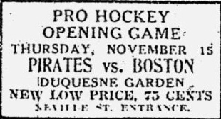 1928–29 Pittsburgh Pirates (NHL) season