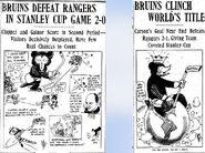 1929 Bruins cartoons