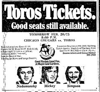 1974–75 Toronto Toros season