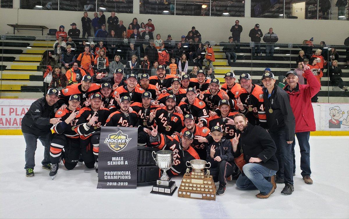 2018-19 Ste. Anne Aces Manitoba Senior A Hockey Playoffs