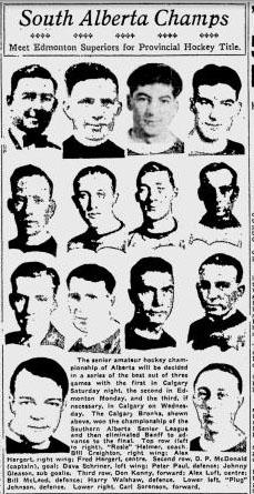 1931-32 Alberta Senior Playoffs