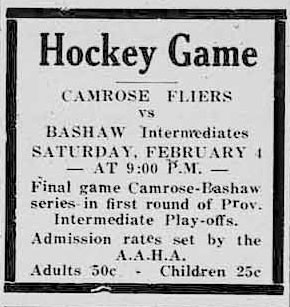 1932-33 Alberta Intermediate Playoffs