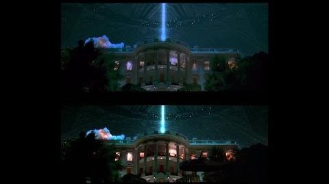 Independence Day- White House Explosion Trailer vs Movie