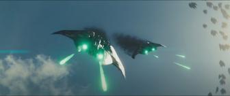 Alien fighters in the sky