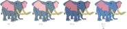 Noah Elephant's color evolution