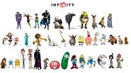 Infinity characters