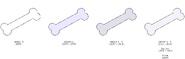Bone's color evolution