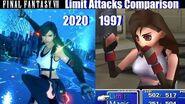 Final Fantasy VII Remake vs Original - All Limit Attacks Comparison (1997 vs 2020)