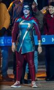 Ms. Marvel on set